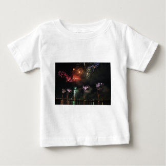 Fireworks Colorful Night Sky Baby T-Shirt