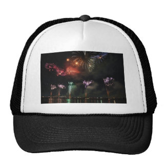 Fireworks Colorful Night Sky Trucker Hat