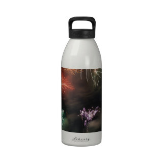 Fireworks Colorful Night Sky Reusable Water Bottles