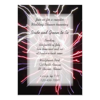 "Fireworks Couples Wedding Shower Invitation 5"" X 7"" Invitation Card"