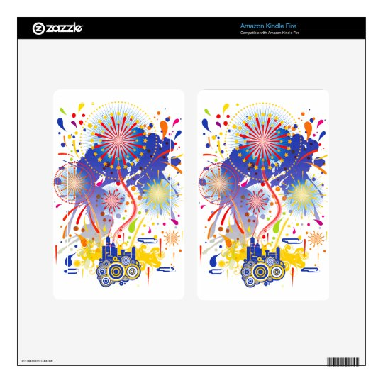 Fireworks Decal For Kindle Fire