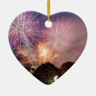 Fireworks del señor el alcalde, Southbank Londres Adorno Navideño De Cerámica En Forma De Corazón