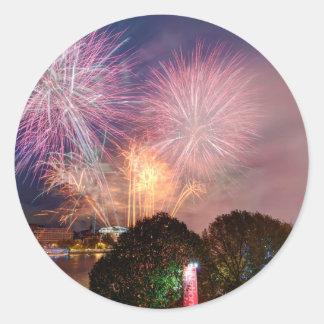 Fireworks del señor el alcalde, Southbank Londres Pegatina Redonda