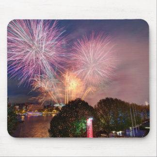 Fireworks del señor el alcalde, Southbank Londres Tapetes De Raton