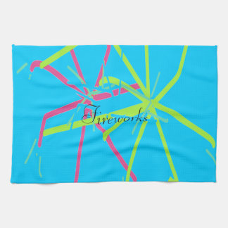 Fireworks Design by Carole Tomlinson Kitchen Towel