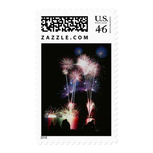 Fireworks Designer Postage Stamps stamp
