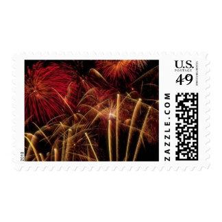 Fireworks Designer Postage Stamps