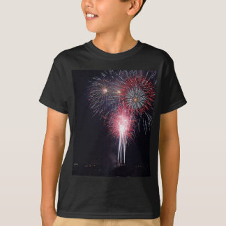Fireworks Diego Bay On The Fourth Of July T-Shirt
