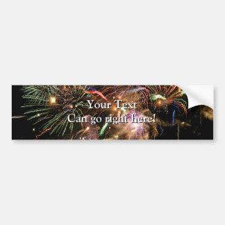 Fireworks Display Car Bumper Sticker