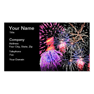 Fireworks Display Business Card