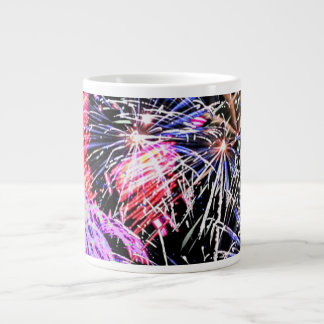 Fireworks Display Giant Coffee Mug