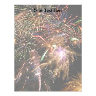 Fireworks Display Customized Letterhead