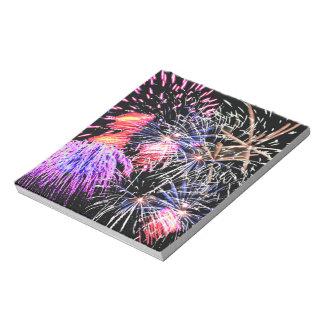 Fireworks Display Note Pads