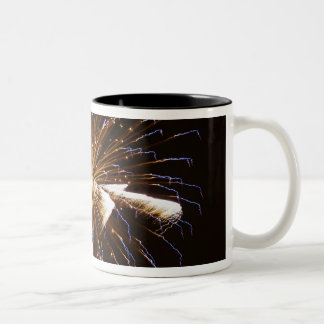 Fireworks display on Savannah River 2 Two-Tone Coffee Mug
