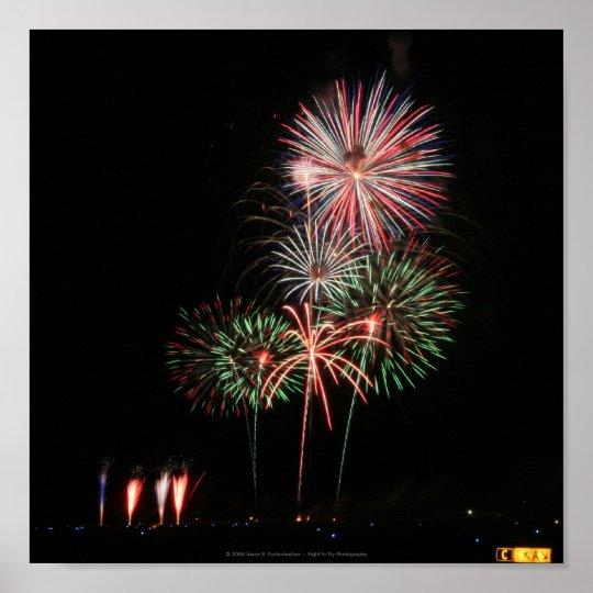 fireworks display poster zazzle com