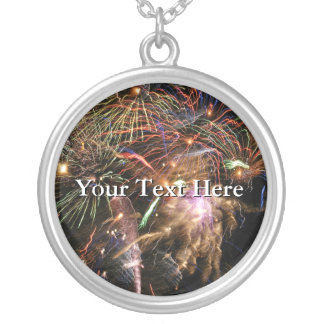 Fireworks Display Silver Plated Necklace