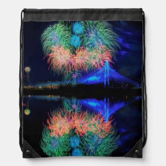 Fireworks Drawstring Backpack