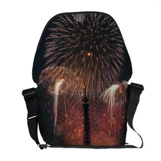 Fireworks, Eiffel Tower, Paris, France Courier Bag