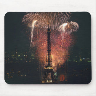Fireworks, Eiffel Tower, Paris, France Mouse Pad
