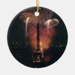 Fireworks, Eiffel Tower, Paris, France Ornaments