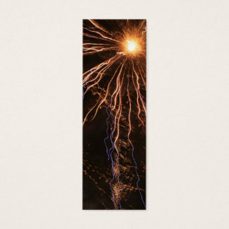 Fireworks Electricity Bookmark Mini Business Card