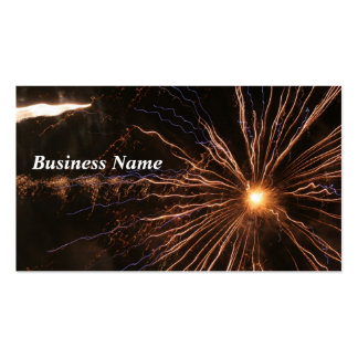Fireworks Electricity Business Card