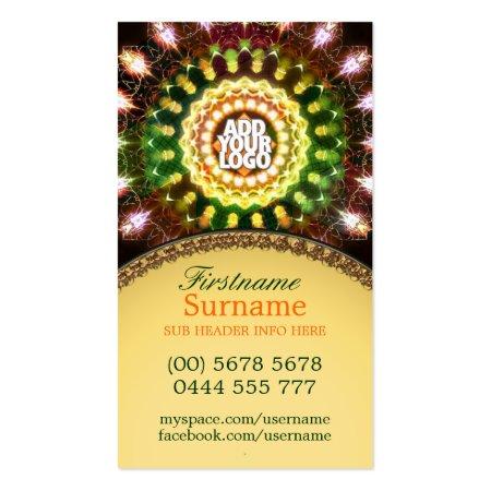 New Age Energy Fireworks Mandala Business Cards