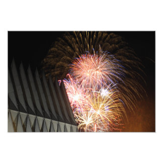 Fireworks explode photo print