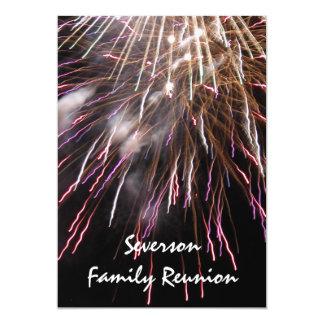 "Fireworks Family Reunion Invitation 5"" X 7"" Invitation Card"