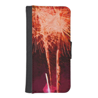 Fireworks Finale Abstract Phone Wallet Case