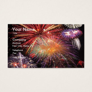Fireworks Finale Business Card