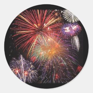 Fireworks Finale Classic Round Sticker