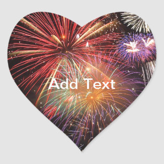 Fireworks Finale Heart Sticker