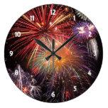 Fireworks Finale Large Clock