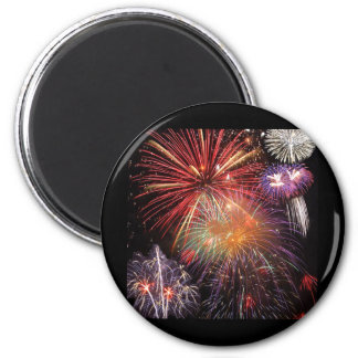 Fireworks Finale 2 Inch Round Magnet