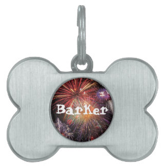 Fireworks Finale Pet Name Tag
