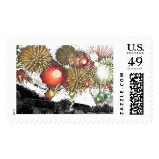 Fireworks Finale Postage Stamp