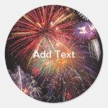 Fireworks Finale Round Stickers
