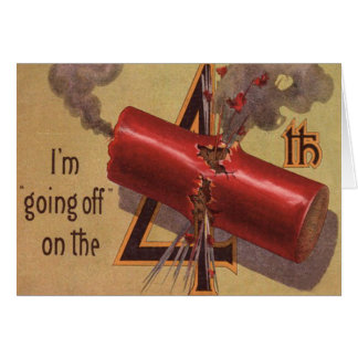 Fireworks Firecracker Explosion Fourth of July Card