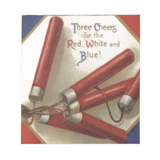 Fireworks Firecrackers 4th of July Memo Notepad