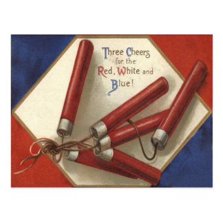 Fireworks Firecrackers 4th of July Postcard