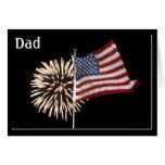 FIREWORKS/FLAGS-DAD ES HOGAR FELICITACION