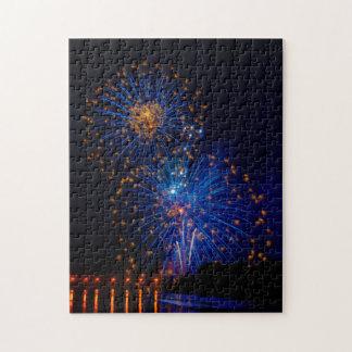 Fireworks flowers jigsaw puzzle