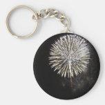 Fireworks For The Fourth In Mira Mesa Were Pretty Basic Round Button Keychain