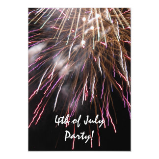 Fireworks Fourth of July Party Invitation