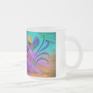 Fireworks Frosted Glass Coffee Mug
