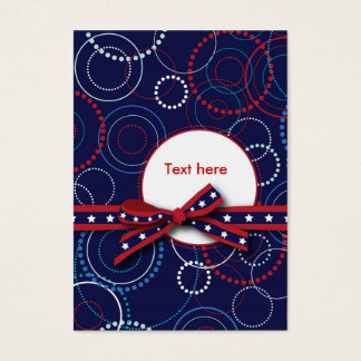 Fireworks Gift Tag Business Card