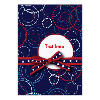 Fireworks Gift Tag Large Business Cards (Pack Of 100)