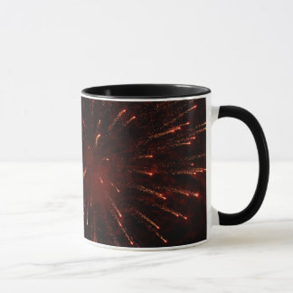 Fireworks glitter display mug
