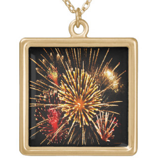 Fireworks Gold Plated Necklace